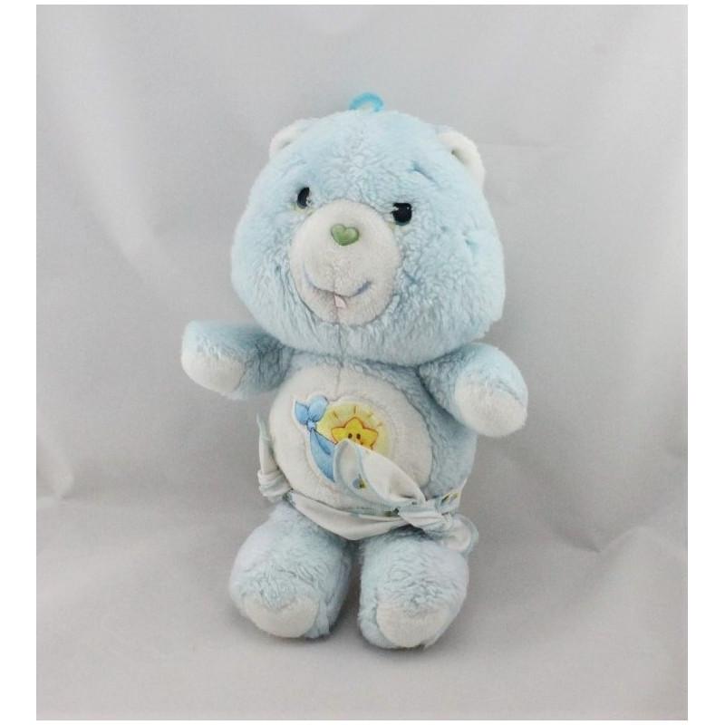Ancienne Peluche Bisounours bleu étoile avec couche CARE BEARS