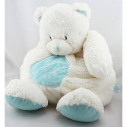 Doudou ours blanc bleu Ma cachette à pyjama BABY NAT