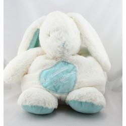 Doudou lapin blanc bleu Ma cachette à pyjama BABY NAT