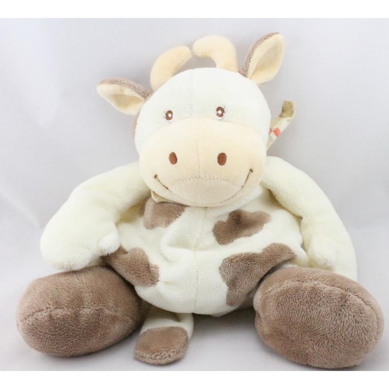 Doudou vache daisy blanche tachetée JOLLYBABY 21 CM