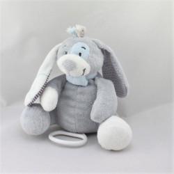 Doudou musical chien gris violet bleu Arthur NOUKIE'S