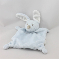 Doudou plat lapin bleu GRAIN DE BLE