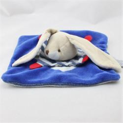 Doudou et compagnie plat lapin bleu rouge marin