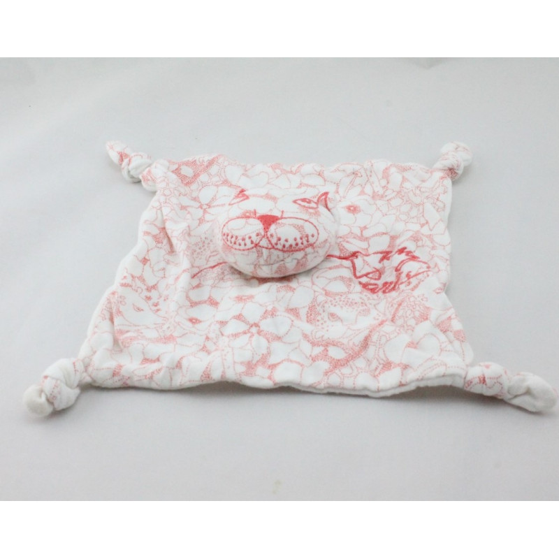 Doudou plat chat blanc rose KENZO