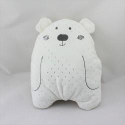Doudou ours blanc argenté CYRILLUS SIMBA TOYS