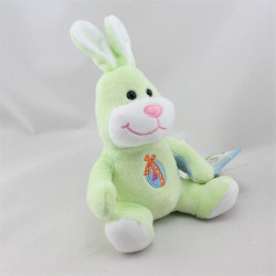 Doudou lapin vert oeuf de pâque GIPSY