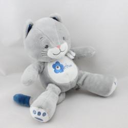 Doudou chat gris bleu Arthur et Lola BEBISOL