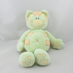 Doudou chat tigre vert orange KIABI
