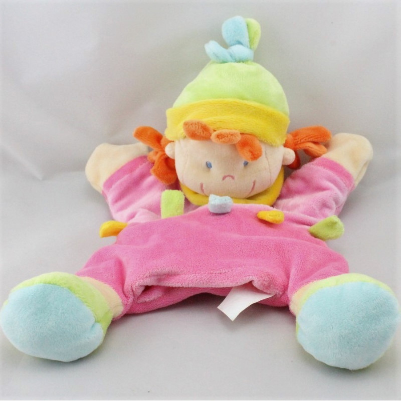 Doudou marionnette étoile lutin fille rose avion arbres NICOTOY