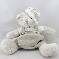 Doudou ours beige blanc Oh Baby OVERWIJK