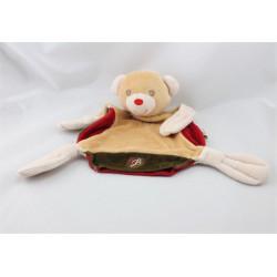 Doudou plat ours beige rouge marron rose BESTEVER 2009