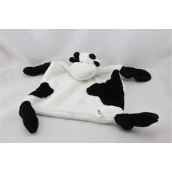 Doudou plat vache blanche noir RENAULT