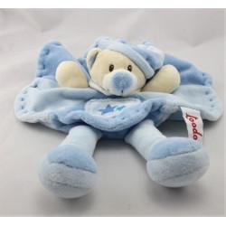 Doudou plat ours bleu TOODO