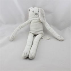 Doudou lapin gris blanc aux grandes pattes DPAM