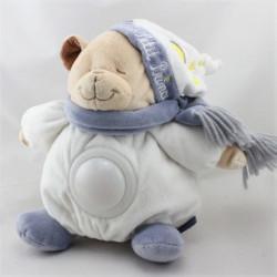 Doudou veilleuse ours blanc bleu Le petit prince SOGEX