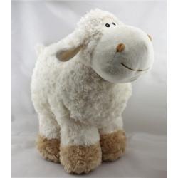 Grande peluche Doudou mouton blanc beige