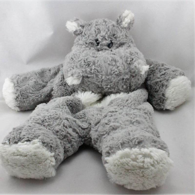 Doudou range pyjama hippopotame gris blanc ETAM