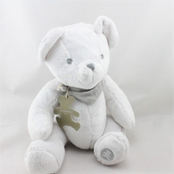 Doudou ours blanc foulard gris Lulu Castagnette SIMBA TOYS