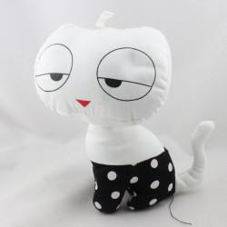 Doudou chat blanc noir pois ETAM