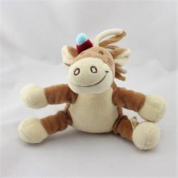 Doudou musical cheval Pinto kaya indien marron NOUKIE'S