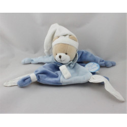 Doudou et compagnie plat ours bleu blanc Petit Chou