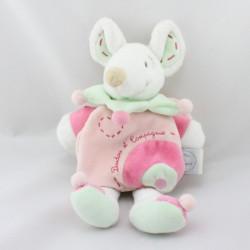 Doudou et compagnie souris rose Léonie cape