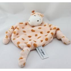 Doudou plat girafe CARRE BLANC