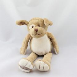 Doudou chien écru beige marron BUKOWSKI