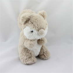 Doudou écureuil beige blanc GRAIN DE BLE