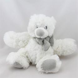 Doudou ours blanc gris ENESCO