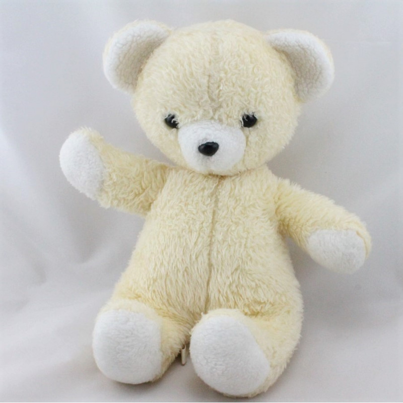 Ancienne peluche ours jaune NOUNOURS