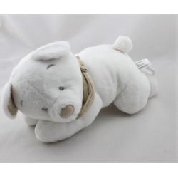 Doudou musical ours blanc foulard beige KIABI SIMBA TOYS