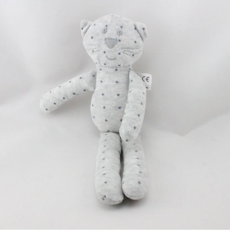 Doudou chat gris étoiles BOUT'CHOU BOUTCHOU