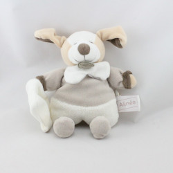 Doudou et compagnie chien beige blanc mouchoir ALINEA