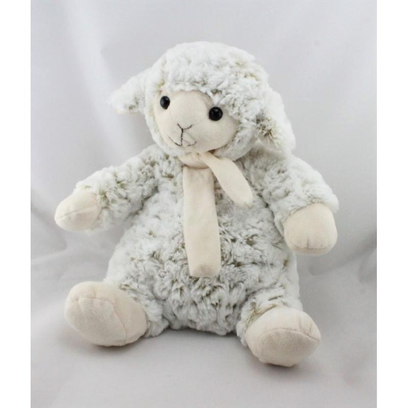 Doudou peluche mouton blanc beige ANNECY RODADOU RODA