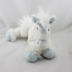 Doudou licorne blanc bleu GIPSY