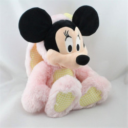 Peluche Minnie en lapin rose jaune vichy DISNEY STORE