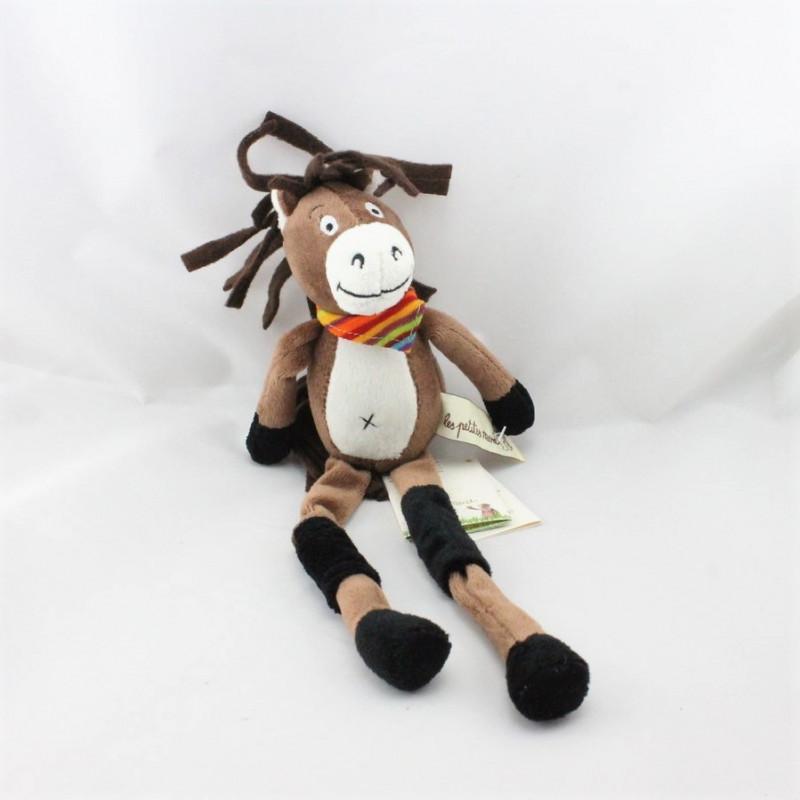 Doudou cheval marron aux longues pattes LES PETITES MARIE