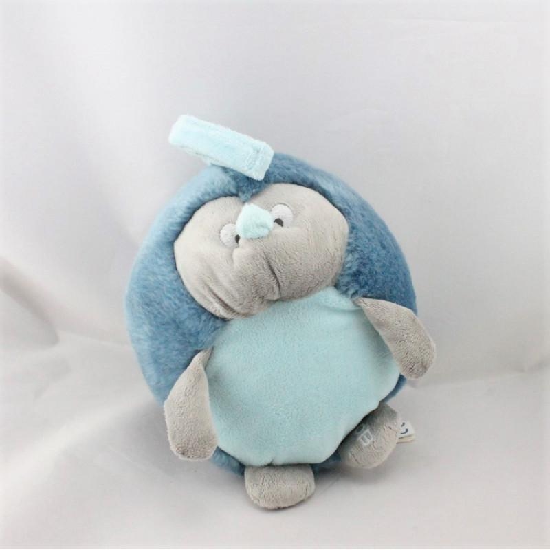 Doudou musical hérisson gris bleu OBAIBI
