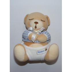 Doudou bébé ours endormi pull coeur KALOO 1998