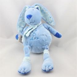 Doudou p'tit lapin bleu Happy flower CMP