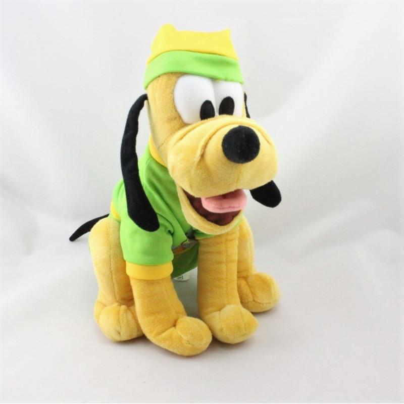 Doudou chien Pluto pyjama vert jaune DISNEY NICOTOY