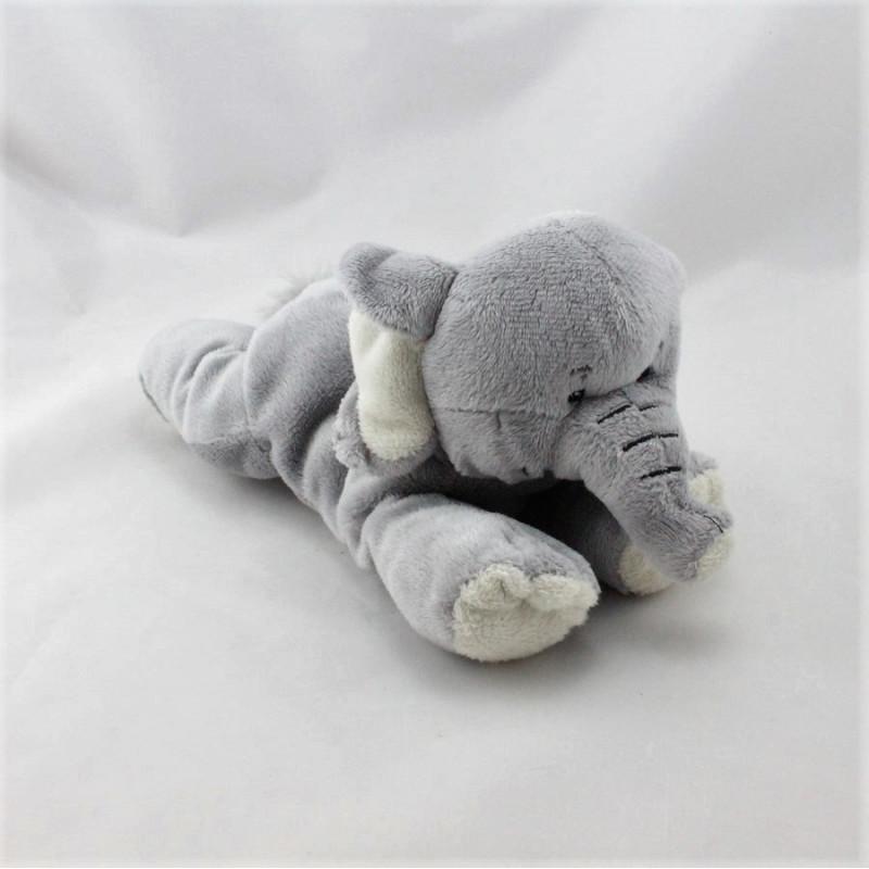 Doudou éléphant gris NATURE PLANET
