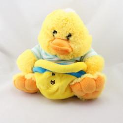 Doudou poussin canard jaune avec panier FIZZY