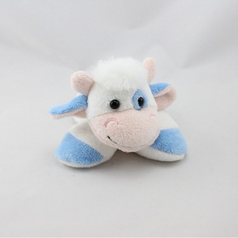 Doudou vache blanche bleu CMP