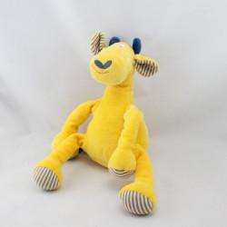 Doudou girafe jaune bleu gris rayé CATIMINI