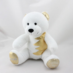 Doudou ours blanc or 100 % Purs Calins NOCIBE NOEL 2015