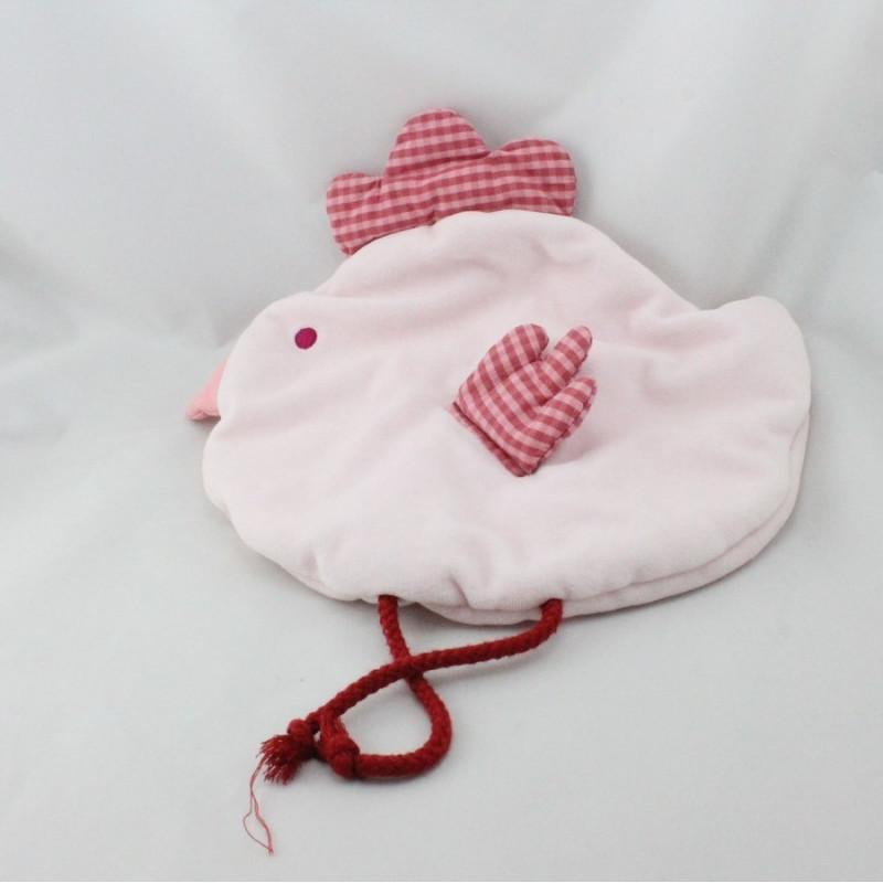 Doudou range pyjama oiseau poule rose