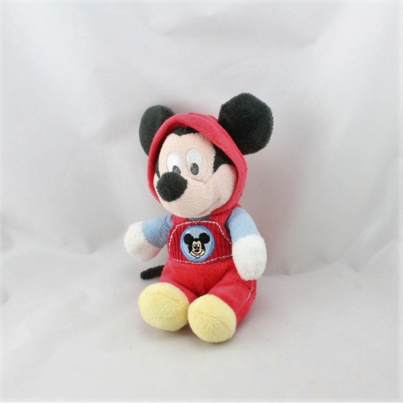 Doudou mickey salopette rouge capuche Clubhouse DISNEY NICOTOY