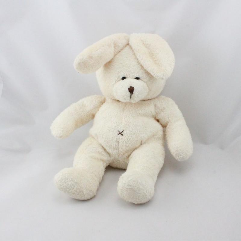 Doudou lapin blanc écru MAXITA